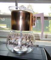 Vtg Perc King by Handcraft Coffee Percolator Pink & Gold Retro Design MCM 8 cup
