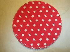 15 Stoffdeckchen / Hauben rot m.weißen Sternchen für Marmeladengläser Deckchen