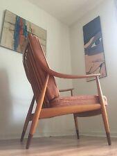 Vintage Mid Century Peter Hvidt & Orla Molgaard Easy Lounge Chair 1950's