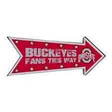 "Ohio State Buckeyes Arrow Marquee Sign - Light Up - Room Bar Decor NEW NCAA 18"""