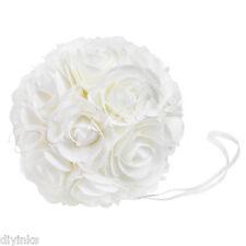 "8"" Kissing Ball Wedding Decoration Rose Pomander Ivory Flower Petals Centerpiece"