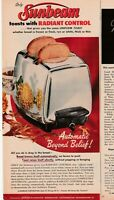 1957 VTG Orig Magazine Ad Kitchen Appliance SUNBEAM Frypan Controlled Heat