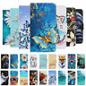 For Apple iphone 11 XR 8 7 6 Painted Leather Wallet Flip Card Stand Case Cover