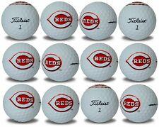 Cincinnati Reds Titleist ProV1 Refinished MLB Golf Balls 12 pack