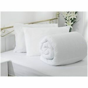 SUPER VALUE BUNDLE - DUVET/ QUILT WITH 2 ULTRA BOUNCE PILLOWS ALL SIZES & TOGS