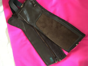 Tally Ho Suede & Leather half chaps