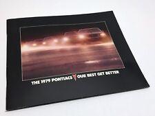 1979 Pontiac Sunbird Phoenix Grand Prix Grand Am Bonneville Trans AM Brochure