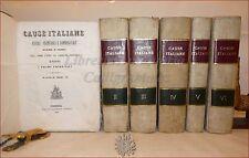DERECHO - CAUSAS ITALIANO Penal Civil Comecial 15 voll+REPERTORIO 1843-62