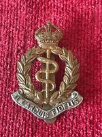 WW1 Royal Army Medical Corps RAMC Bi Metal Cap Badge Military British Army 12/8