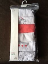 H&M Baby Girl Bodysuits Organic Cotton 6-9 Months