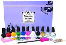 Konad A set-10 polish,10 image plates,stamp,scraper,rhinestones,