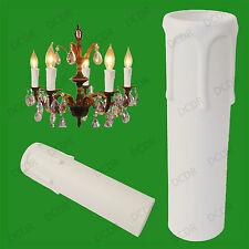 50x Blanc Goutte Bougie Cire Effet Lustre Ampoule Lumière Poche Housse 90mm x