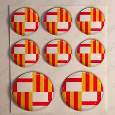 Pegatinas Barcelona Pegatina Bandera Barna Resina Vinilo Relieve España 3D