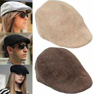 Mens Peaky Cabbie Hat Golf Driving Hat Beret Newsboy Caps Fashion Gift