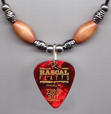 Rascal Flatts Jay Demarcus Signature Red Guitar Pick Necklace - 2012 Tour
