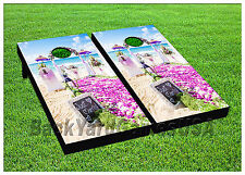 Cornhole Beanbag Toss Game w Bags Game Boards Married Wedding Beach Set 940