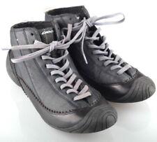 DKNY Designer Sneakers 6½ 37,5 eher 37 schwarz dunkelgrau Sneaker Boots