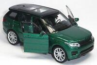 NEU: Modellauto Range Rover Sport ca. 11,5cm grün metallic Neuware von WELLY