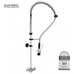 Monolith Deck Mount Commercial Kitchen Pre-Rinse Spray Arm 6 Star WELS no spout