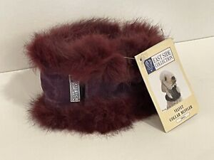 East Side Collection Dog Velvet Faux Fur Collar Accessory Trendy Muffler Small