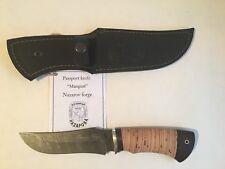 "Damascus Steel Custom Handmade Knife ""Mangust"" by Nazarov Forge"