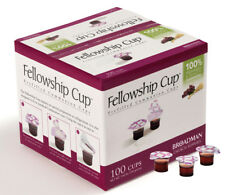 Communion Set - Fellowship Cup Juice / Wafer-100 Sets (Pkg-100) Lords Supper