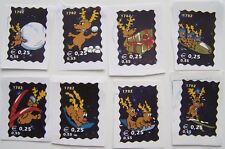 Stadspost Den Helder  - 8 Kerstzegels gebruikt, op papier