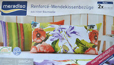 Kissenbezug Bezug Kissenbezüge mit Knopfleiste 2 x 40x80 cm bunt Blumen Neu!!!