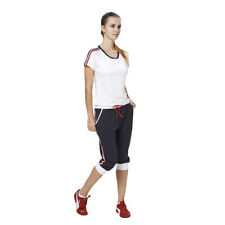 Striped Plus Size Activewear for Women with Wicking