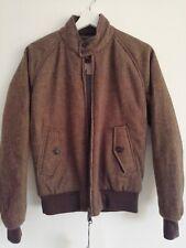 Barracuta G9 Harrington Jacket Brown Herringbone Wool size 42