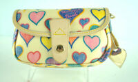 Dooney & Bourke Heart Wallet flap and snap closure
