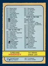 CHECKLIST MARKED 72-73 O-PEE-CHEE 1972-73 NO 334 EX+  5892