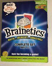 Brainetics Math Memory System Complete 5 DVD Set Playbook Flash Cards