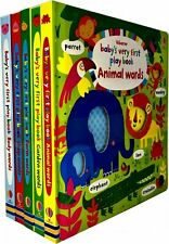 Baby's Very First Play Words Books Collection 5 Books Set Fiona Watt Farm Words