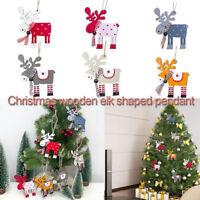 Fj- Albero di Natale Legno Alce Renna Ornamento da Appendere Festa Casa