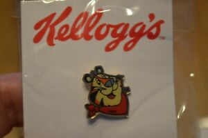 RARE KELLOGG'S COLLECTIBLE TONY THE TIGER LAPEL PIN,TIE TACK,NEW IN PACK