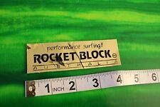 Rocket Block Australia Gold Coast Surf SMALL HIGH END Vintage Surfing STICKER