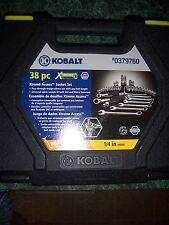 New Mechanic's Tool Set Kit (38-Piece) Kobalt Case Metric Wrenches Sockets