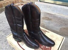 Women's Lucchese Brown Kangaroo Western Boots Sz 7c