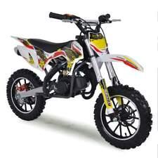 50cc Dirt Bike Kids Mini Funbikes MXR 61cm Yellow Motorbike Petrol