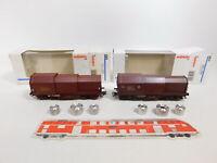 CJ269-0,5# 2x Märklin H0/AC Wagen NEM KK: 4707 SNCF+4709 SNCB, 2 Abbruchteile