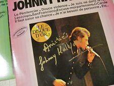 Autographe JOHNNY HALLYDAY Vinyle Signé Main - Johnny Hallyday 33 Tours dédicacé