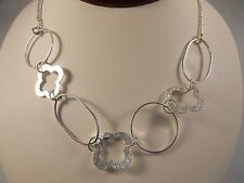 Sterling Silver, Fancy Style Loops Necklace