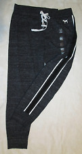 Victoria's Secret PINK Lace up Charcoal Marl Skinny Collegiate Pants w Dog M NWT