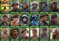 Platoon movie Trading cards Vietnam War US Infantry Sheen Dafoe Berenger Dillon