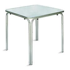 Tavolo da esterno bar quadrato 70x70 cm in alluminio e acciaio con bordi arroton