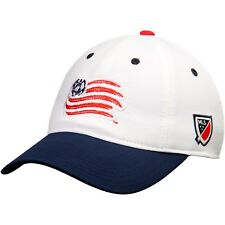 New England Revolution adidas White/Navy Authentic Team Slouch Adjustable Hat