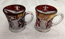 Set of Two Higbee Arched Fleur-de-Lis Mugs