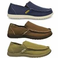 Crocs SANTA CRUZ Mens Casual Lightweight Slip On Canvas Upper Croslite Loafers