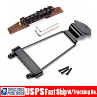 Adjustable Jazz Guitar Bridge Trapeze Tailpiece for 6-String Archtop Jazz Guitar